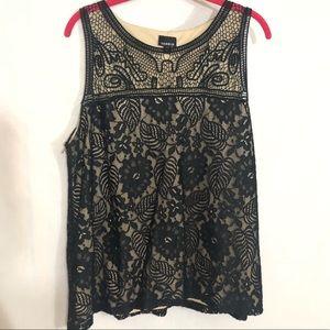Torrid lace tank top Dressy shirt